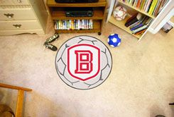 Bradley University Braves Ball-Shaped Area (Ball Shaped Area Rugs: Soccer Ball)