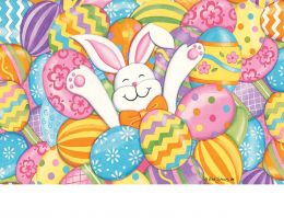 Indoor & Outdoor MatMates Doormat - Bunny Eggs (Doormat or Flag: Doormat)