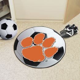 Clemson University Ball Shaped Area Rugs (Ball Shaped Area Rugs: Soccer Ball)