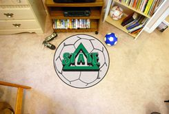 Delta State University Area Rugs - Nylon Ball Shaped (Ball Shaped Area Rugs: Soccer Ball)
