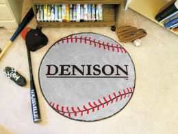 Denison University Area Rugs - Nylon Ball Shaped (Ball Shaped Area Rugs: Baseball)