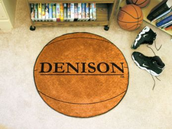 Denison University Area Rugs - Nylon Ball Shaped (Ball Shaped Area Rugs: Basketball)