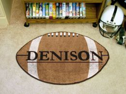 Denison University Area Rugs - Nylon Ball Shaped (Ball Shaped Area Rugs: Football)
