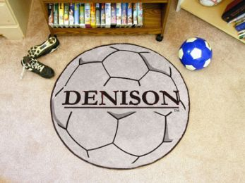 Denison University Area Rugs - Nylon Ball Shaped (Ball Shaped Area Rugs: Soccer Ball)