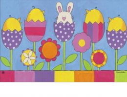 Indoor & Outdoor MatMates Doormat - Easter Garden (Doormat or Flag: Doormat)