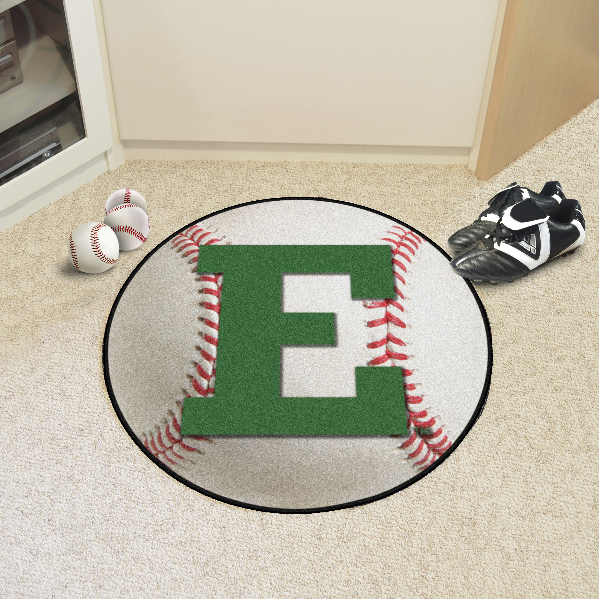 Eastern Michigan University Ball Shaped Area Rugs (Ball Shaped Area Rugs: Baseball)