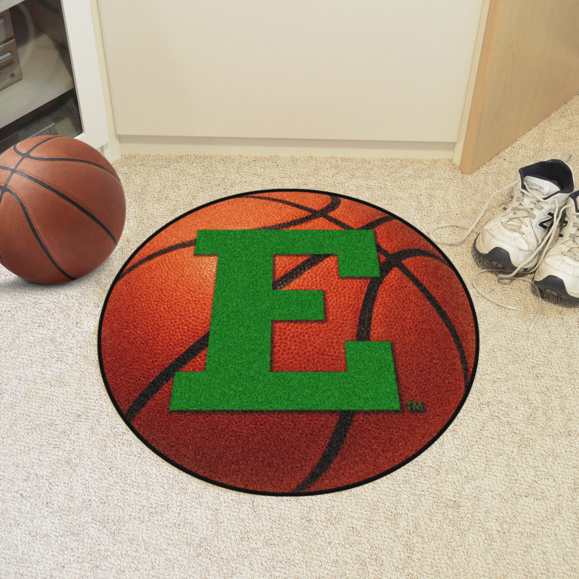 Eastern Michigan University Ball Shaped Area Rugs (Ball Shaped Area Rugs: Basketball)