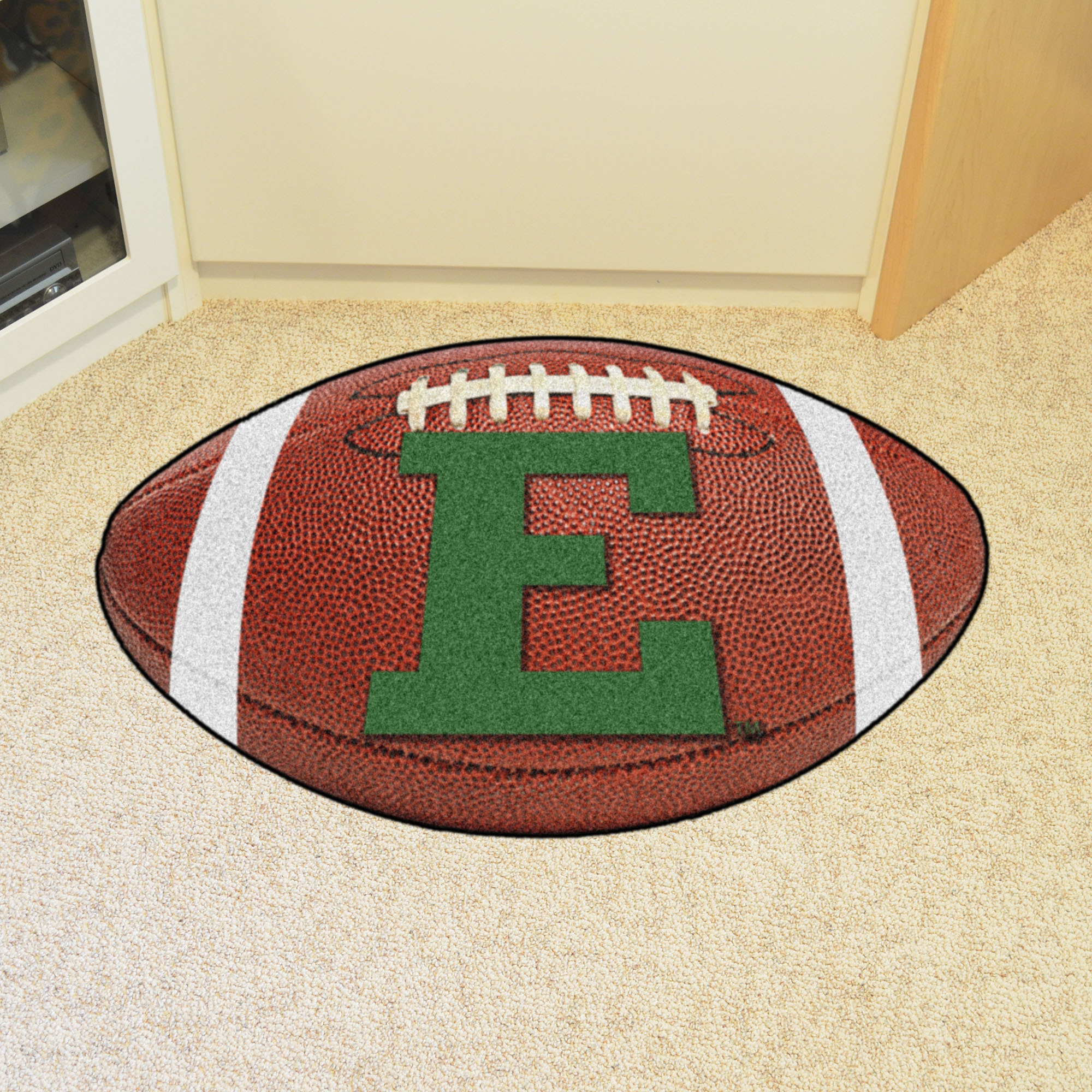 Eastern Michigan University Ball Shaped Area Rugs (Ball Shaped Area Rugs: Football)