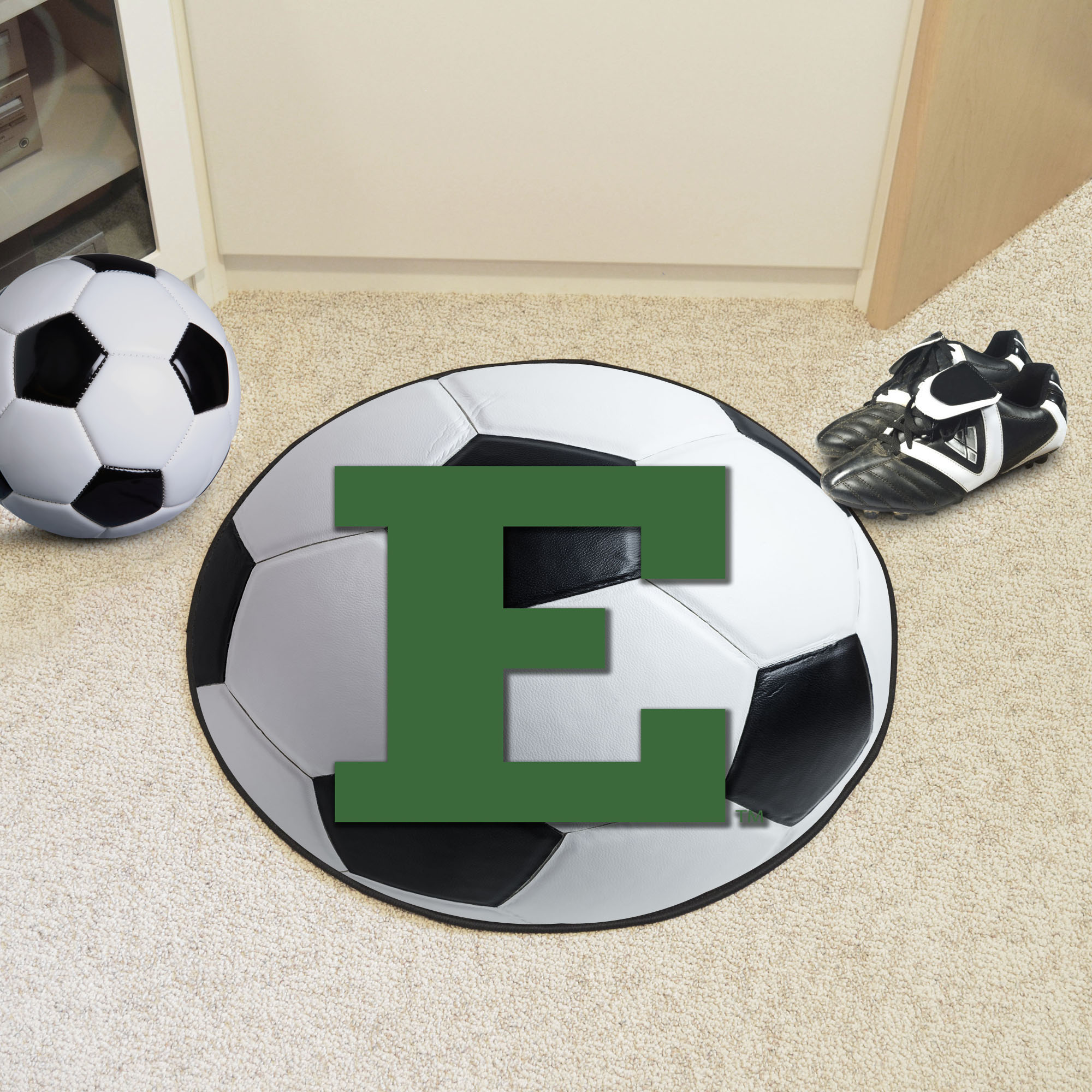 Eastern Michigan University Ball Shaped Area Rugs (Ball Shaped Area Rugs: Soccer Ball)