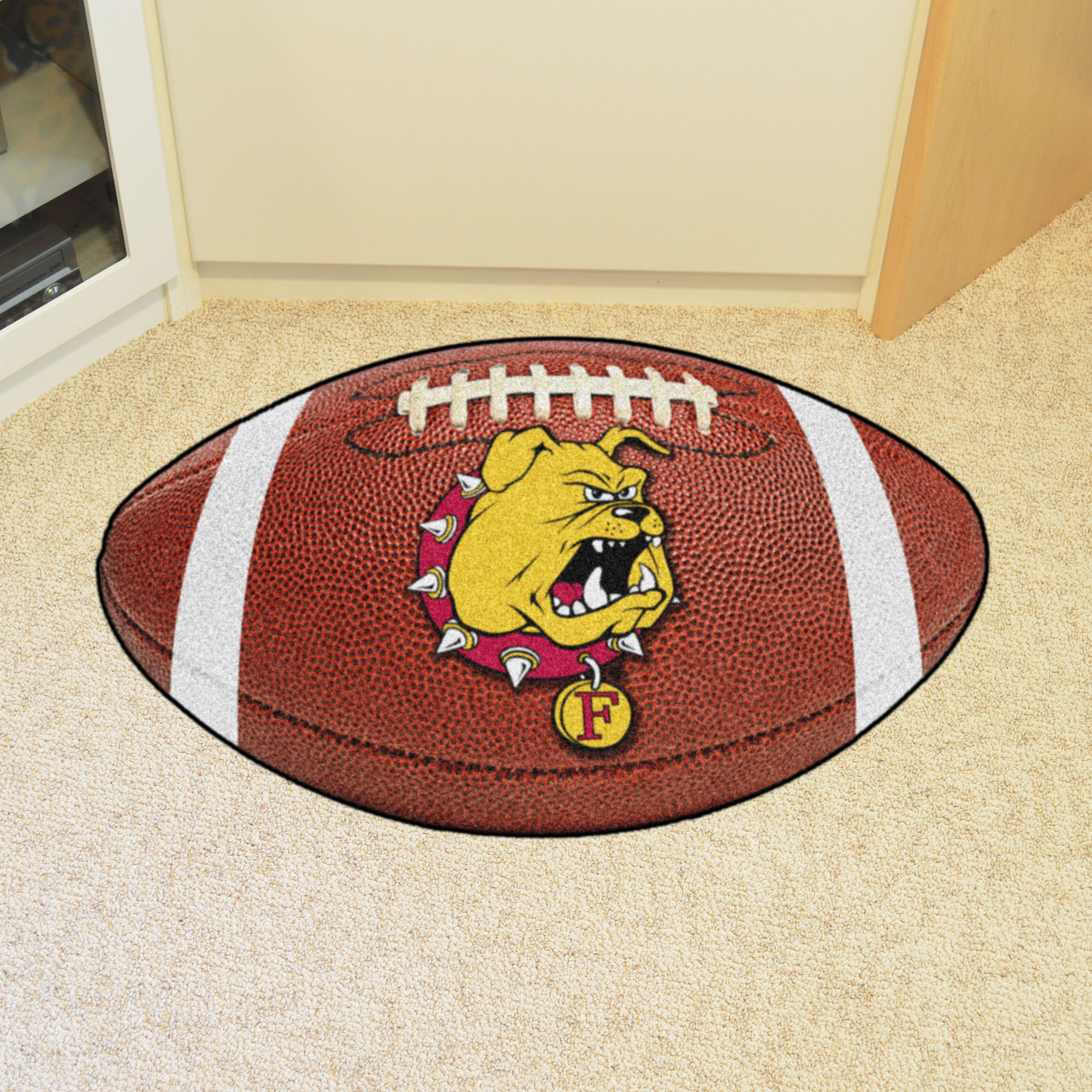 Ferris State University Ball Shaped Area Rugs (Ball Shaped Area Rugs: Football)