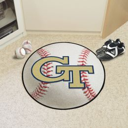 Georgia Tech Ball Shaped Area Rugs (Ball Shaped Area Rugs: Baseball)
