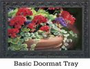 Indoor - Outdoor Geranium Visit MatMates Doormat - 18x30