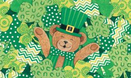 Indoor & Outdoor Insert Doormat - Bear Clovers (Doormat or Flag: Doormat)