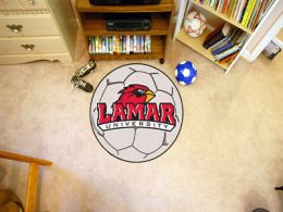 Lamar University Ball Shaped Area Rugs (Ball Shaped Area Rugs: Soccer Ball)