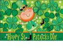 Indoor & Outdoor Leprechaun MatMates Doormat - 18 x 30