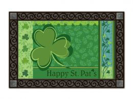 Indoor & Outdoor MatMates Doormat - Happy St. Pat's Day (Doormat or Flag: Doormat)