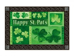 Indoor & Outdoor MatMates Doormat - Shamrock Collage (Doormat or Flag: Doormat)