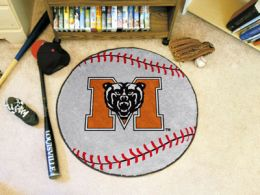 Mercer University Ball Shaped Nylon Eco Friendly  Area Rugs (Ball Shaped Area Rugs: Baseball)