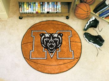 Mercer University Ball Shaped Nylon Eco Friendly  Area Rugs (Ball Shaped Area Rugs: Basketball)