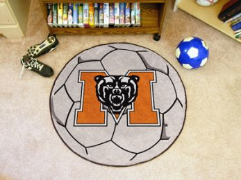 Mercer University Ball Shaped Nylon Eco Friendly  Area Rugs (Ball Shaped Area Rugs: Soccer Ball)