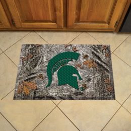 "Michigan State University Scrapper Doormat - 19"" x 30"" Rubber (Field & Logo: Camo & Logo)"