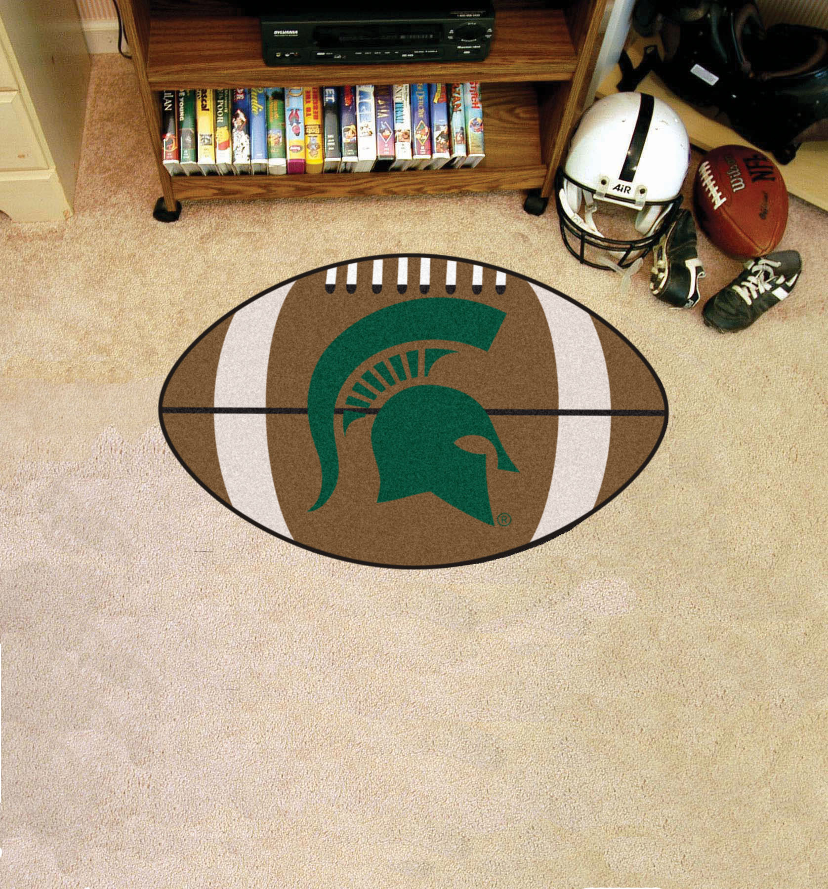 Michigan State University Ball Shaped Area Rugs