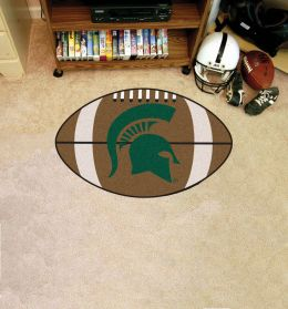 Michigan State University Ball Shaped Area Rugs (Ball Shaped Area Rugs: Football)
