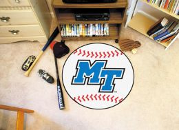 Middle Tennessee State University Ball Shaped Area Rugs (Ball Shaped Area Rugs: Baseball)