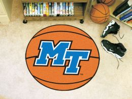 Middle Tennessee State University Ball Shaped Area Rugs (Ball Shaped Area Rugs: Basketball)