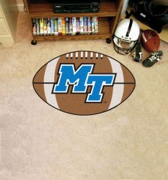 Middle Tennessee State University Ball Shaped Area Rugs (Ball Shaped Area Rugs: Football)