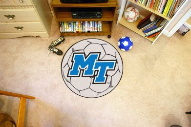 Middle Tennessee State University Ball Shaped Area Rugs (Ball Shaped Area Rugs: Soccer Ball)