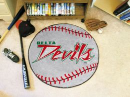 Mississippi Valley State University Ball Shaped Area Rugs (Ball Shaped Area Rugs: Baseball)