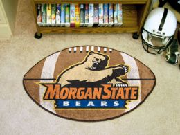 Morgan State University Ball Shaped Area Rugs (Ball Shaped Area Rugs: Football)