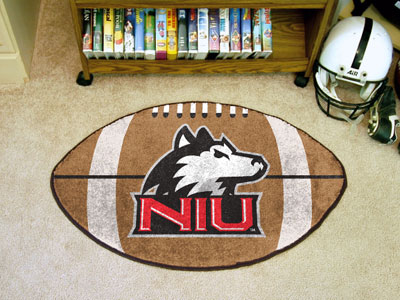 Northern Illinois University Ball Shaped Area Rugs (Ball Shaped Area Rugs: Football)