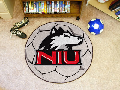 Northern Illinois University Ball Shaped Area Rugs (Ball Shaped Area Rugs: Soccer Ball)