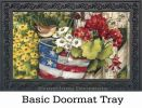 Patriotic Pail Summer Seasonal Non-Slip MatMates Welcome Doormat