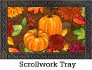Indoor & Outdoor Insert Doormat - Pumpkins and Leaves