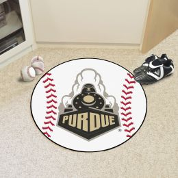 Purdue University Ball Shaped Area rugs (Ball Shaped Area Rugs: Baseball)
