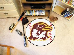 Quincy University Hawks Ball Shaped Area Rugs (Ball Shaped Area Rugs: Baseball)