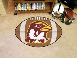 Quincy University Hawks Ball Shaped Area Rugs (Ball Shaped Area Rugs: Football)