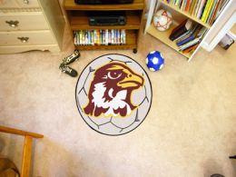 Quincy University Hawks Ball Shaped Area Rugs (Ball Shaped Area Rugs: Soccer Ball)