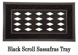 "Sassafras Switch Mat Insert Trays - 18"" x 30"" (Sassafras Tray: Black Scroll)"