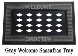 "Sassafras Switch Mat Insert Trays - 18"" x 30"" (Sassafras Tray: Gray Welcome)"
