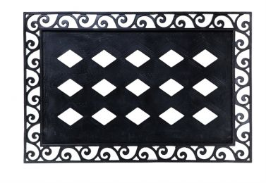 "Embossed Mat Frame - Doormat Tray 24"" x 36"" (Embossed Mat Frame Choice: Scroll)"