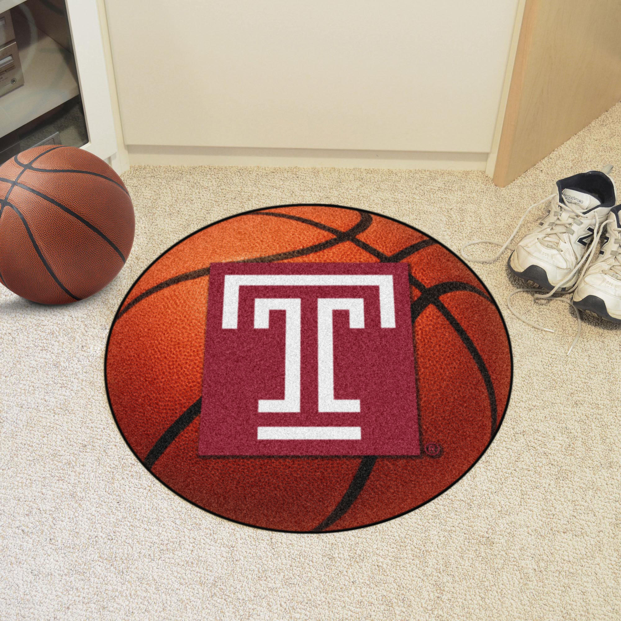 Temple University Ball Shaped Area rugs (Ball Shaped Area Rugs: Basketball)