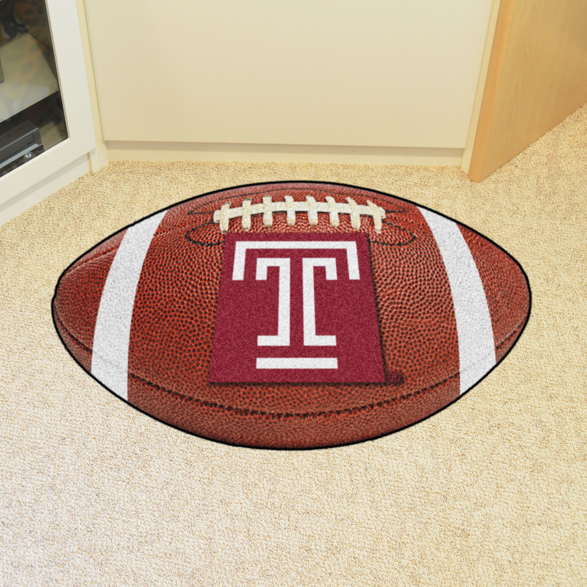 Temple University Ball Shaped Area rugs (Ball Shaped Area Rugs: Football)
