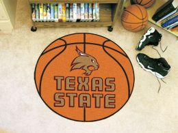 Texas State University Ball Shaped Area Rugs (Ball Shaped Area Rugs: Basketball)