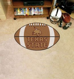 Texas State University Ball Shaped Area Rugs (Ball Shaped Area Rugs: Football)