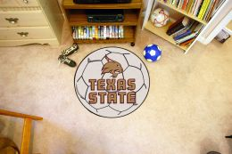 Texas State University Ball Shaped Area Rugs (Ball Shaped Area Rugs: Soccer Ball)