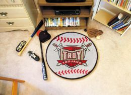 Troy University Ball Shaped Area Rugs (Ball Shaped Area Rugs: Baseball)